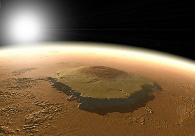вулкан Олимп. Марс.