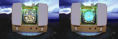 Multiple Mirror Telescope до и после реконструкции.