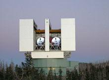 Башня Большого Бинокулярного Телескопа. large binocular telescope.