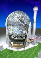 Башня телескопа в SALT разрезе. Схема.