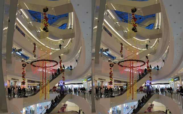 Торговый центр в объёме.