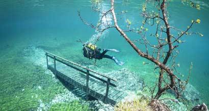 Затопленный парк в Австрии