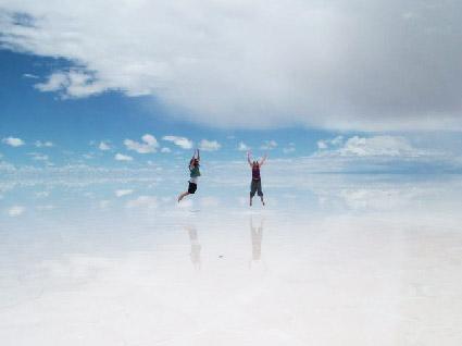Озеро-зеркало, солончак Уюни