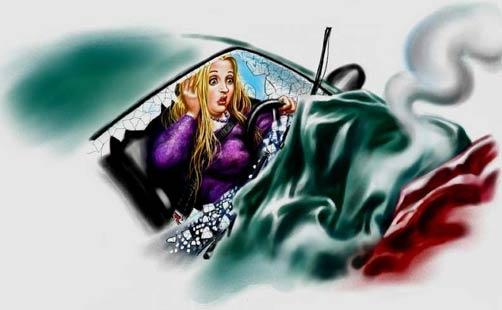 силиконовая грудь как airbag - спасает жизнь
