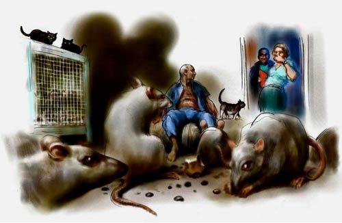 Человек, живущий с крысами