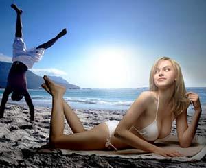 знакомство на пляже